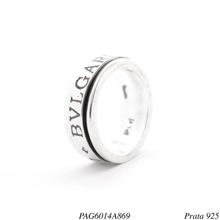 Anel prata 925 giratório Bulgari-0