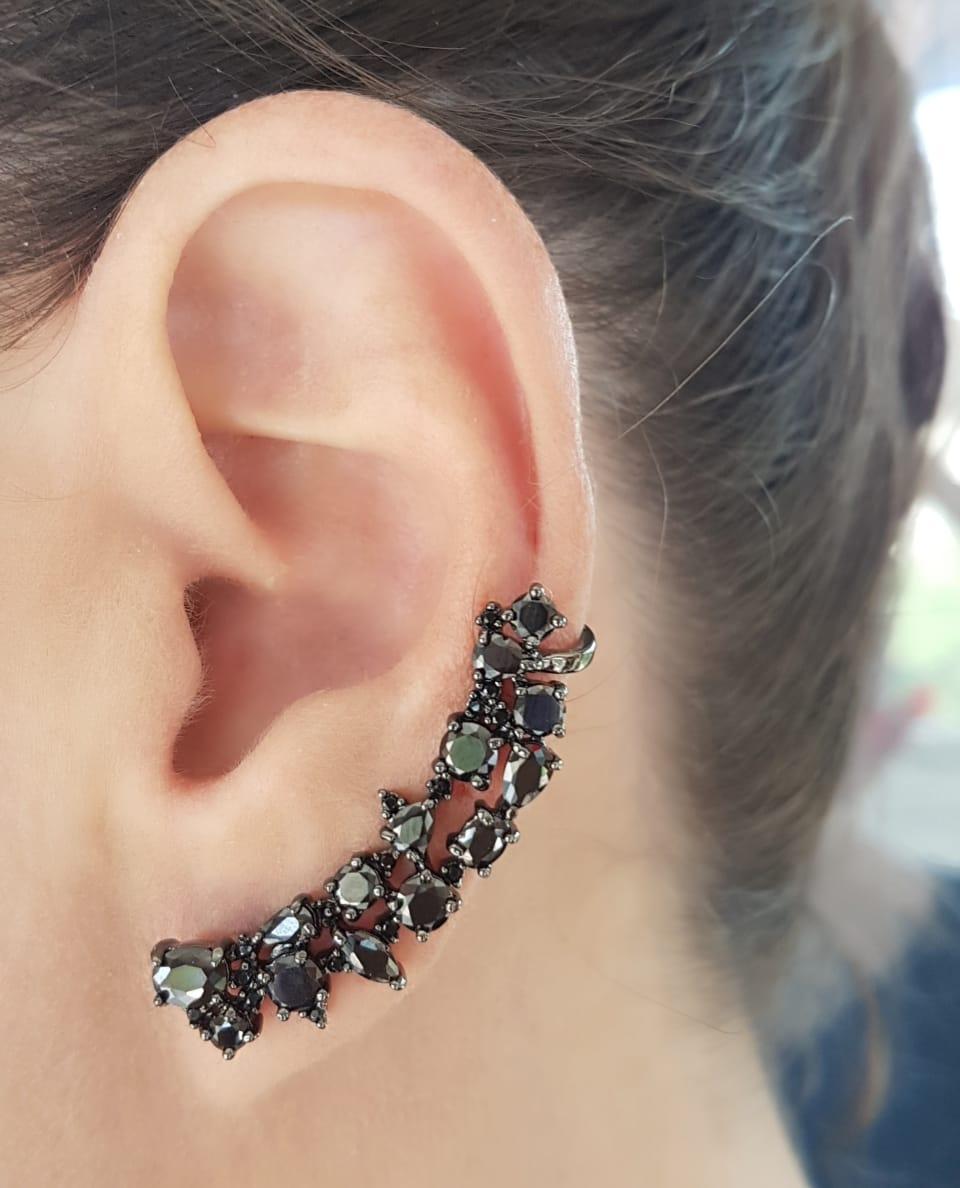 Ear Cuff com zircônia negra em banho de ródio negro – Atacado Pietra ... 99b89a68a1
