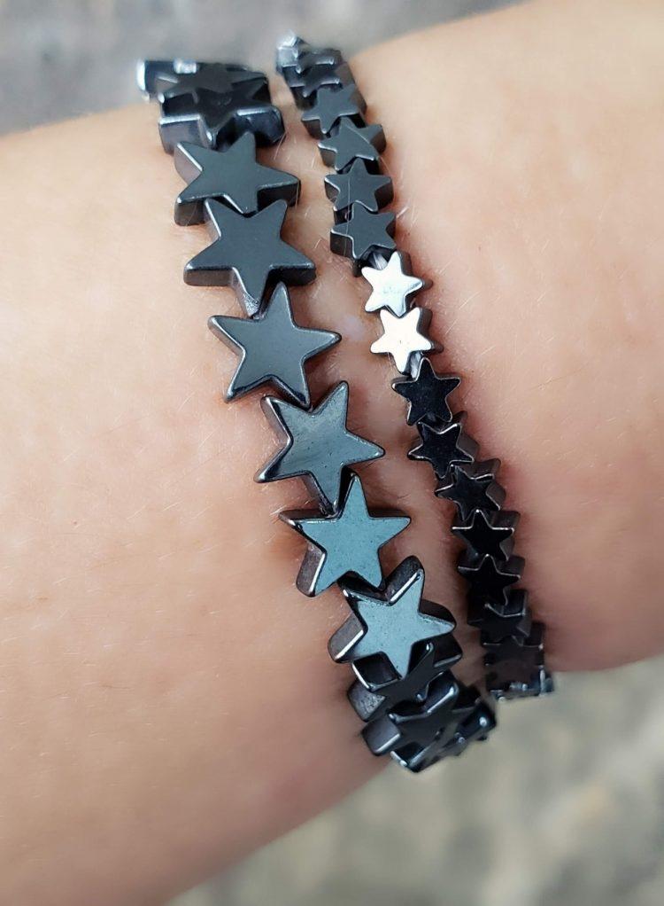 Pulseira Estrela P de hematita
